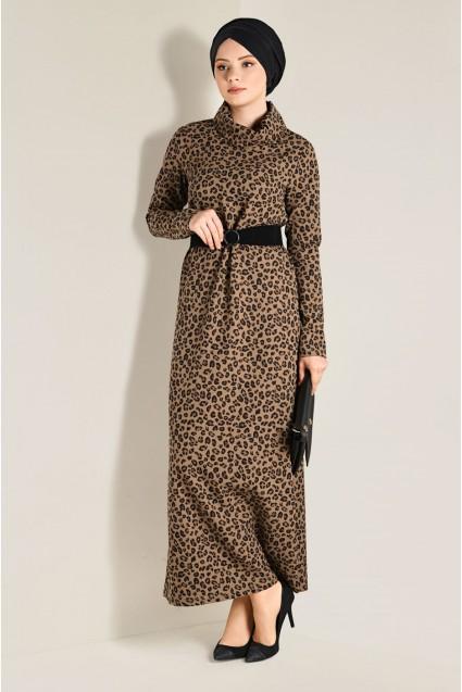 e60644cda فستان سبور طويل منقش جلد النمر | الفينا - alvinaonline | تسوق اون ...