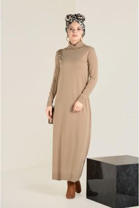 فستان سبور طويل تريكو سادة