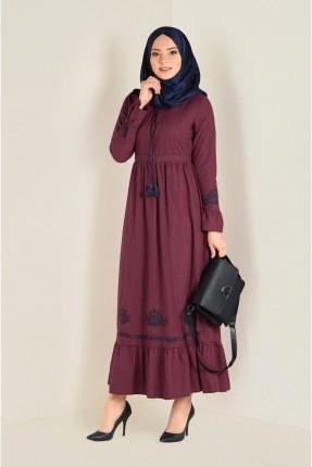 فستان سبور طويل منقش