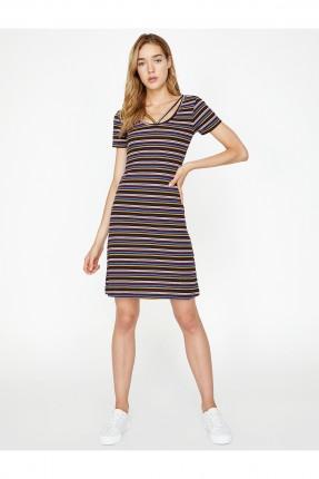 فستان سبور قصير مخطط