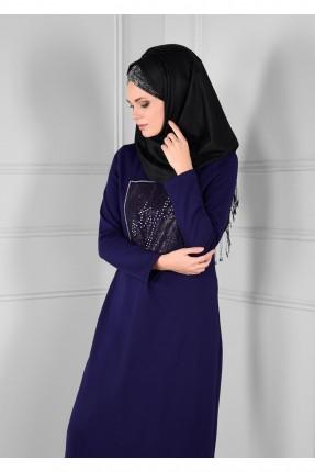 فستان سبور للمحجبات مع كشكش