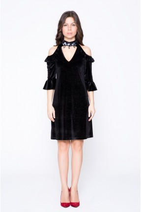 فستان رسمي مفتوح الاكتاف