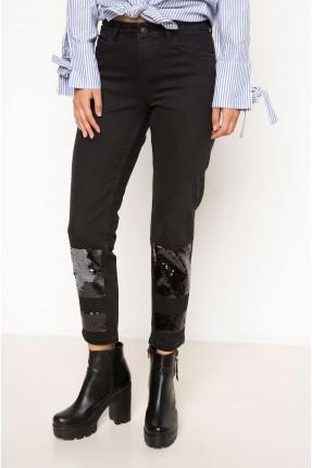 بنطال نسائي جينز مزين شك