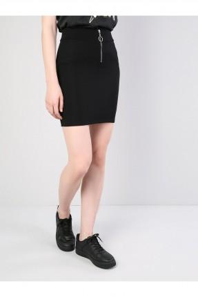 تنورة قصيرة مع سحاب