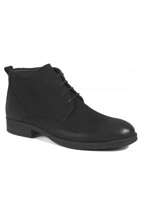 حذاء رجالي جلد ساق عالي