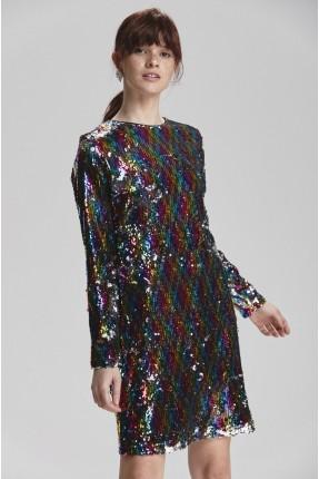 فستان رسمي ملون مزين شك