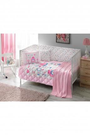 طقم لحاف سرير بيبي مع رسومات