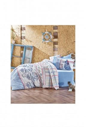 طقم غطاء سرير مفرد مع رسومات