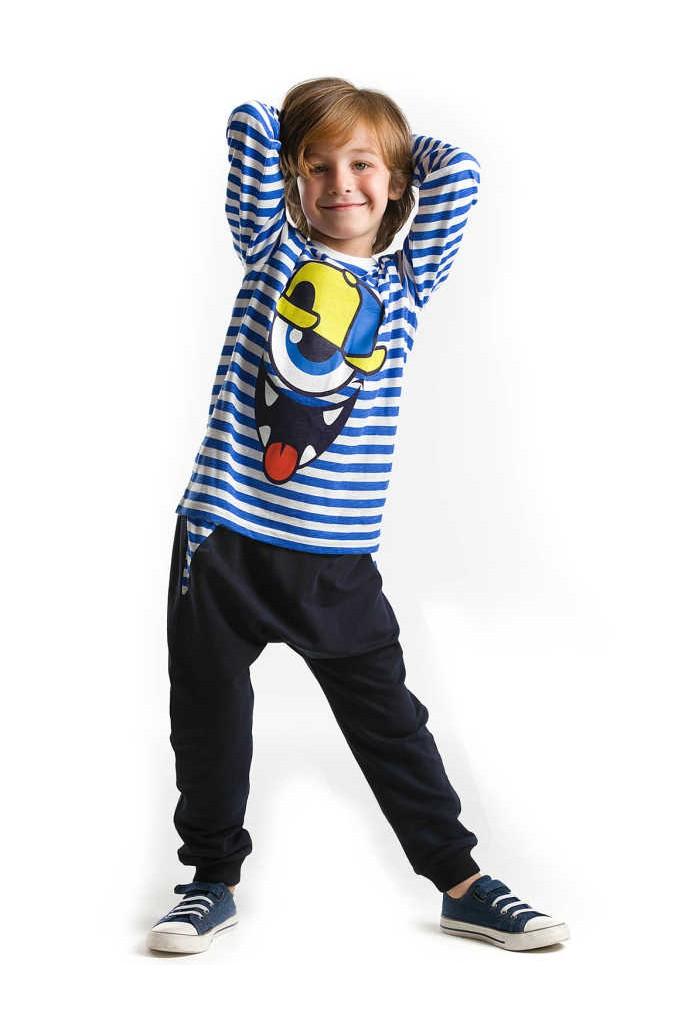 4eee1a9f6 صورة 1 من اصل 2. طقم اطفال ولادي مع رسمة - باسعار الجملة - دينو كيدز -  denokids