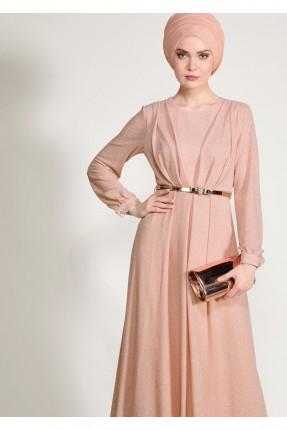 فستان رسمي شيك مزين ترتر