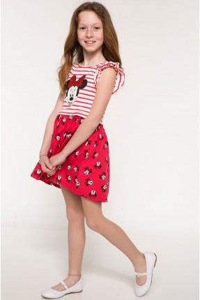 فستان اطفال بناتي مع رسمة ميكي ماوس