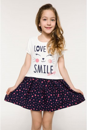 فستان اطفال بناتي منقش