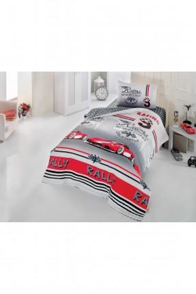 طقم غطاء سرير اطفال ولادي مع رسمة سيارة