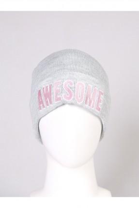 قبعة نسائية صوف مع كتابة