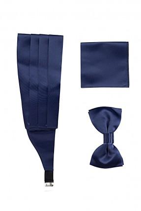 اكسسوار رجالي ببيونة + حزام خصر + منديل