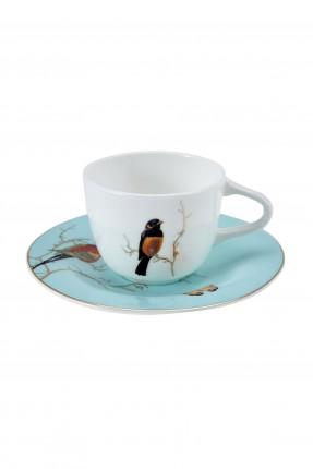 طقم فنجان قهوة /6 اشخاص/ برسمة