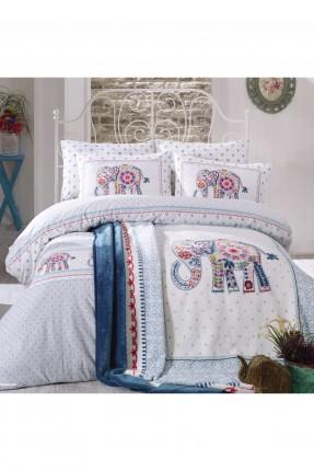 طقم غطاء سرير مزدوج مزخرف برسمات
