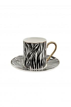 طقم فنجان قهوة زيبرا /4 اشخاص/