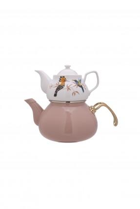طقم ابريق شاي تركي رسمة عصافير