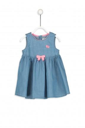 فستان بيبي بناتي جينز بدون اكمام