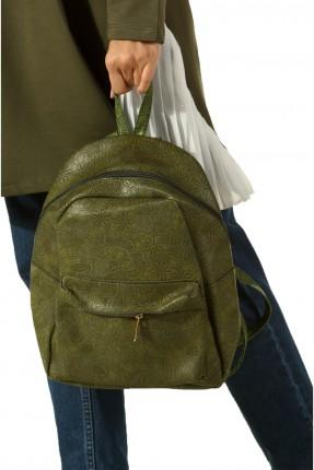 حقيبة ظهر نسائية منقشة