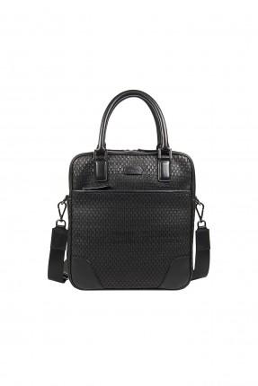 حقيبة يد رجالية جلد بنقشة