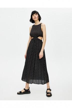 فستان سبور طويل مفتوح الخصر