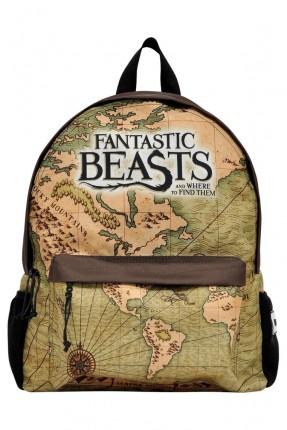 حقيبة ظهر مدرسية اطفال ولادي بطبعة خرائط