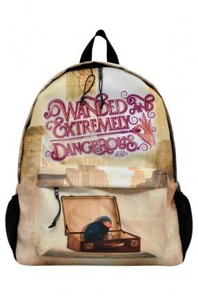 حقيبة ظهر مدرسية اطفال بناتي بطبعة عصفور