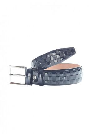 حزام رجالي جلد مربعات