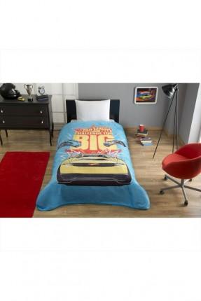 بطانية سرير اطفال ولادي مع رسمة