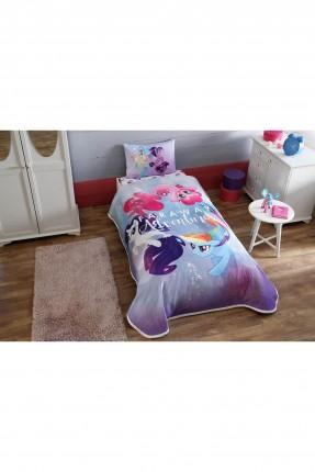 طقم بطانية سرير اطفال بناتي مع رسمة
