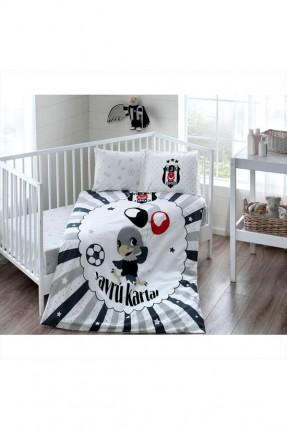 طقم غطاء سرير بيبي شعار بيشكتاش