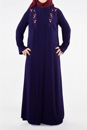 طقم فستان نسائي منقوش ورد قطعتين