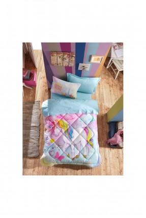 طقم لحاف سرير اطفال مزين برسمة حصان يونيكورن