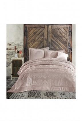 طقم غطاء سرير عرائسي مزين بخطوط مزخرفة