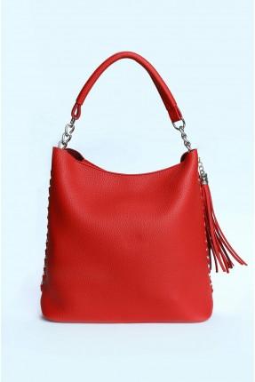 حقيبة يد نسائية مع شراشيب