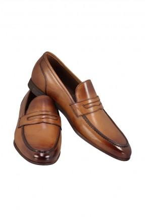 حذاء رجالي جلد بدون رباط