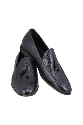 حذاء رجالي جلد مزين بشراشيب