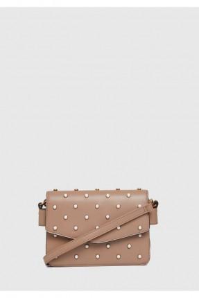 حقيبة يد نسائية مزينة باللؤلؤ