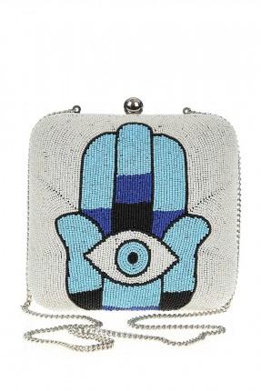 حقيبة يد نسائية رسمية مزينة بعين زرقاء