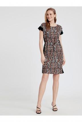 فستان رسمي مزين بخط جانبي