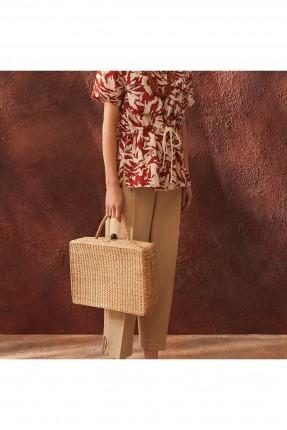 حقيبة يد نسائية قش