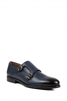 حذاء رجالي جلد باحزمة