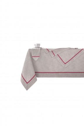غطاء طاولة مزين بخطوط شيك