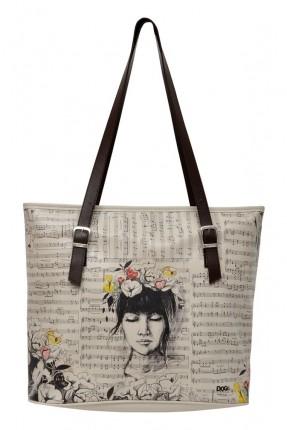 حقيبة يد نسائية بطبعة فتاة