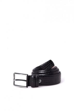 حزام رجالي بنقشة جلد ثعبان
