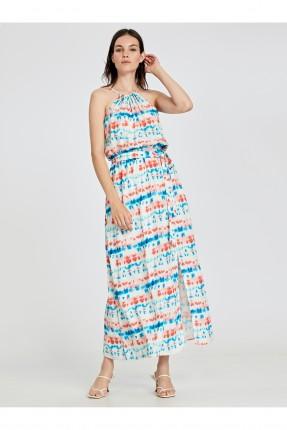 فستان سبور طويل مخطط