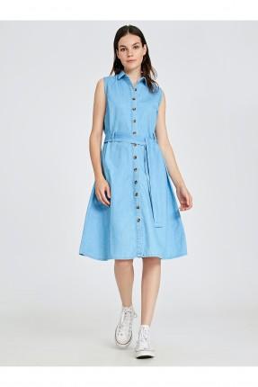 فستان سبور جينز بازرار امامية
