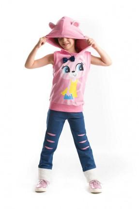 بيجاما رياضة اطفال بناتي بكبشونة